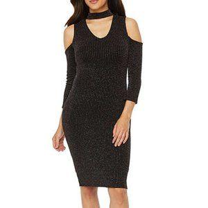 Bold Elements 3/4 Sleeve Bodycon Dress
